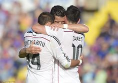 Cristiano Ronaldo, Javier Hernandez and James Rodriguez were all on the scoresheet against...