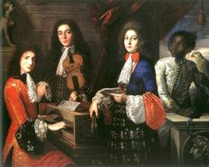 1687 Anton Domenico Gabbiani Italian Portrait of three Musicians of the Medici Court