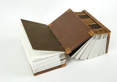 Dos-à-dos - double journal  rustic wood book - birch bark - woodland brown - unique gift - made to order. $220.00, via Etsy. (wow!)