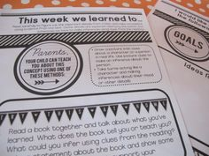 Home Learning Notes - Attach these to class newsletters all year. Great for providing parents with simple ideas to help them review and reinforce key content through fun literacy and math conversations at home.