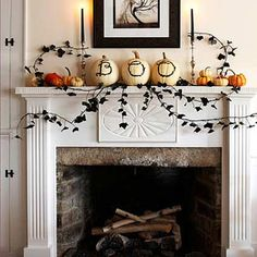 Halloween Decorating Ideas. Love the black ivy