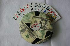 The Amazing Mr. Handy Gripper Playing Card Holder! - Money theme - pinned by pin4etsy.com
