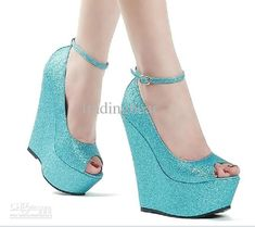 Wholesale Wedding Sparkly Glitter Silver High Heels For Prom Dress Heels Wedge Heel Sandals Size 34 - 40 41, Free shipping, $44.15-49.56/Pair | DHgate