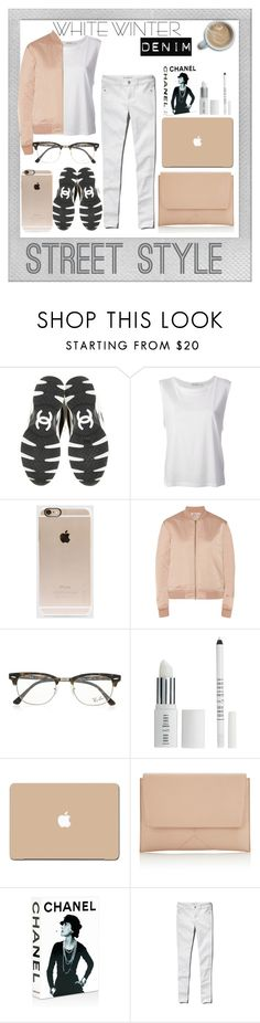 """White Winter Denim"" by lxtifa on Polyvore featuring Polaroid, Chanel, Alexander Wang, Incase, T By Alexander Wang, Ray-Ban, Lord & Berry, Narciso Rodriguez, Assouline Publishing and Abercrombie & Fitch"