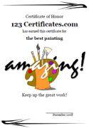 Printable art certificates art awards for art contests and artwork printable art certificates art awards for art contests and artwork competitions and art certificate templates for kids yelopaper Gallery
