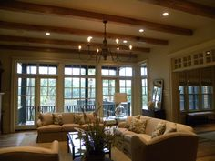 French doors with transom windows
