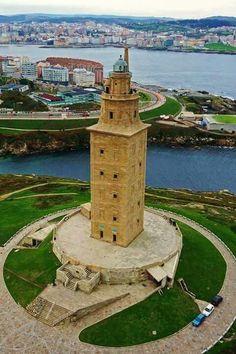 Vista aérea de la Torre de Hércules