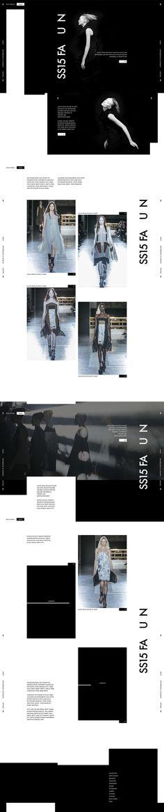 Web | Rick Owens Concept on Behance #web #webdesign #design #layout #grid #fashion #minimalist #black #white #ecommerce