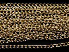 """CAB2016 -03 cadena de Aluminio dorada, medida 5mm de ancho, precio x metro $11 pesos, precio medio mayoreo (3 metros)$10, precio mayoreo (6 metros)$9 pesos, """"""""""""""""""""""""""""""""""""precio VIP (12 metros)$8 pesos"""""""""""""""""""""""""""""""""""""""