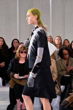 John Galliano for Maison Margiela Autumn/ Winter 2016 Defile (RTW) collection Fashion show Fashion Editor/Stylist : Alexis Roche , Hair Stylist : Eugene Souleiman , Makeup Artist : Pat McGrath