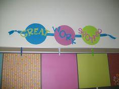 Pics of my finished classroom.This Little Piggy Reads Classroom Displays, Classroom Themes, Classroom Organization, First Grade, Third Grade, Polka Dot Theme, Polka Dots, Cute Bulletin Boards, Polka Dot Classroom