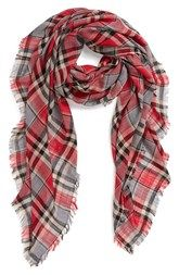 David & Young Woven Plaid Scarf (Juniors)