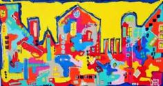 Kunstsamlingen | Artist: Smilla Daisy Dahl | Title: Yellow Dream | Height: 70cm,  Width: 130cm | Find it at kunstsamlingen.com #kunstsamlingen #kunst #artcollection #art #painting #maleri #galleri #gallery #onlinegallery #onlinegalleri #kunstner #artist #danishartists #smilladaisydahl