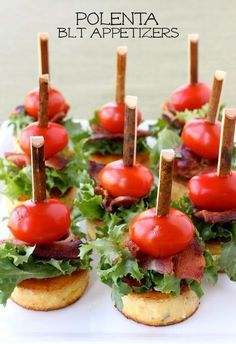 These mini Polenta BLT Appetizers are the best make ahead party food!