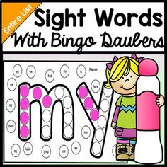 This listing includes all 220 sight words on the entire dolch sight word list. This is a great word work or literacy centers activity!