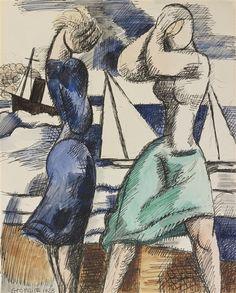 'Coup de vent' (1928) by Marcel Gromaire