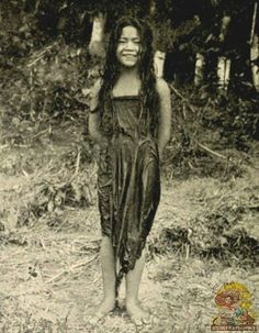 """Tagalo Girl returning from a Bath  c. 1904 BBC Boracay says: """" At least three times a day - after eating at least three times a day fresh cooked rice served with..."""""""