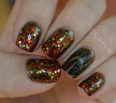 Amber from My Nail Graffiti wearing Autumn Harvest