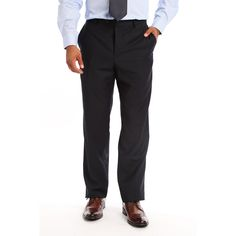 Verno Men's , Viscose Slim Fit Flat-front Dress Pants