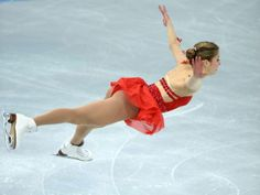 Italy's Carolina Kostner performs during her Ladies Short Program in the ISU Figure Skating Grand Prix series in Moscow
