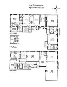 834 Fifth Ave floorplan Woody Johnson apt