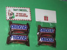 CHRISTMAS SNICKERS  TOPPERS by Prettyfavors on Etsy, $3.00