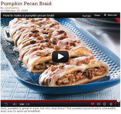 Pumpkin Pecan Braid VIDEO - So easy!