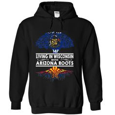 Living in Wisconsin with Arizona Roots, Order HERE ==> https://www.sunfrog.com/States/Living-in-Wisconsin-with-Arizona-Roots-zzxqxvpqbq-Black-Hoodie.html?70559, Please tag & share with your friends who would love it , #jeepsafari #superbowl #birthdaygifts