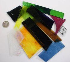 1/4lb (4 oz) Fusible Scrap Glass Asst - Transparent Mix for glass fusing!