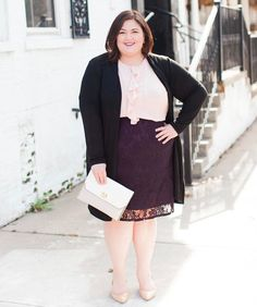 """Ruffles  Lace  Completer Piece (cardigan) = a fun spring """"3 piece"""" look from @Kohls! See more photos and details plus a coupon on authenticallyemmie.com - link in bio! #sponsored #celebratemycurves"""