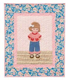 Paper doll quilt block.