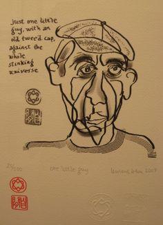 """Leonard Cohen Art: Leonard Cohen Art: """"One Little Guy"""""""