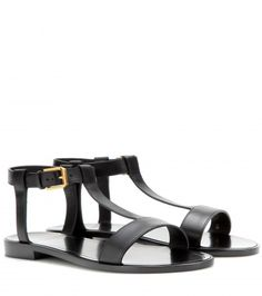 Saint Laurent - Leather sandals