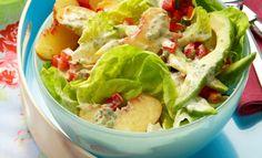 Sommersalat mit Pfirsich und Avocado