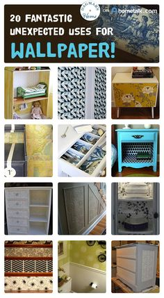 Wallpaper doesn't have to be used only on your walls! Here are 20 great ideas!