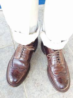 <今日の1足>Alden Wingtip  オールデンは、僕が憧れる靴です。  http://doublesole.com/shoes/140