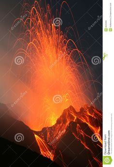 Photo about Stromblian eruption of Stromboli volcano in Italy in a clear fullmoon night. Image of eruption, glow, exploding - 8525995 Stromboli Volcano, Moon Images, Volcanoes, Royalty Free Stock Photos, Earth, Italy, Night, Movie Posters, Universe