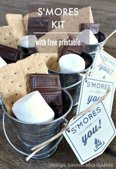 DIY S'mores Kit with Free Printable from MichaelsMakers Design Dining and Diapers