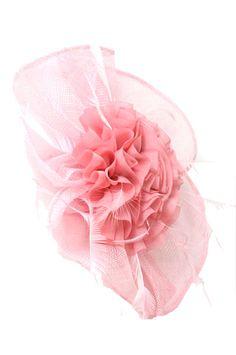 Fascinator - Mesh Flower21 (Hair Clip) - Light Pink