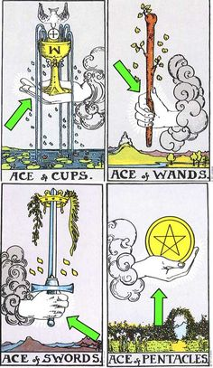 click for a larger view of all cards with the Hand symbol