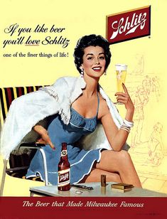 Schlitz, the beer that made Milwaukee famous.