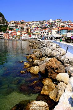 Parga, Greece by Evgenious, via Flickr Zakynthos Greece, Mykonos Greece, Crete Greece, Athens Greece, Greece Vacation, Greece Travel, Beautiful Places In The World, Wonderful Places, Places To Travel