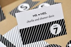 LIke the simplicity and font of this card. Do not like the diagonal stripes.