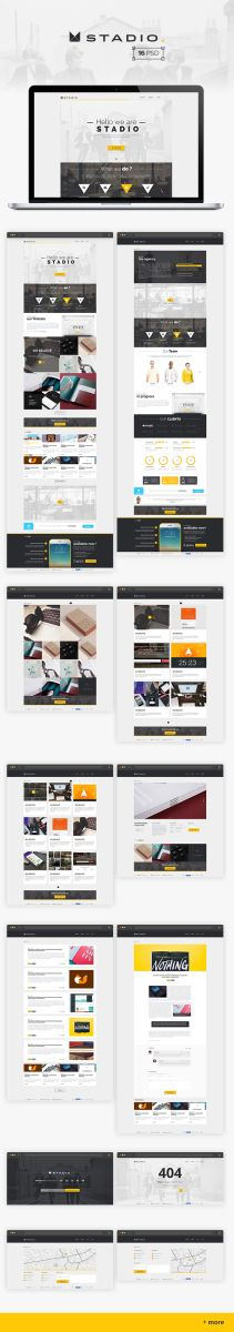 A multipurpose PSD template for Agency with a lot of useful features. It suits for any type of portfolio, design studio, business, personal website… Free Web Design, Mobile Web Design, Web Design Tips, Web Design Inspiration, Ui Kit, Interface Web, Free Photoshop, Web Layout, Free Graphics