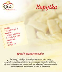Kopytka. Cooking Tips, Cooking Recipes, Good Food, Yummy Food, Snack Recipes, Healthy Recipes, Polish Recipes, Food Design, No Bake Cake
