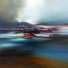 Night Call, Alison Johnson. Impressionistic. Painting. £680. An original oil painting inspired by landscape, movement and colour.