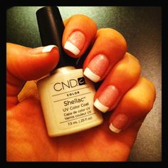 Shellac French manicure, I love to do this to my clients nails! It turns out great!