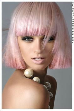 pretty in pink - bob cut