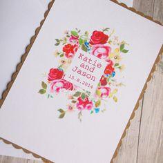 Shabby Chic Floral invitation