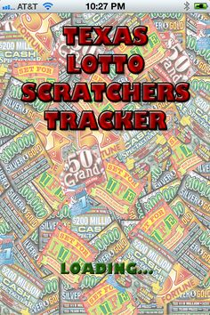 7 Best California Lotto Scratchers Tracker App images in